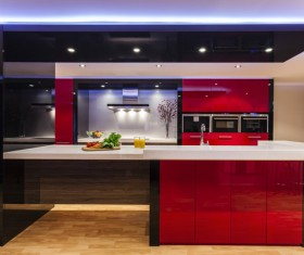 Different styles of decoration of the kitchen Stock Photo 17
