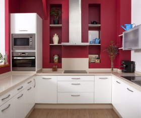 Different styles of decoration of the kitchen Stock Photo 18