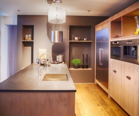 Different styles of decoration of the kitchen Stock Photo 20
