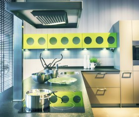 Different styles of decoration of the kitchen Stock Photo 21