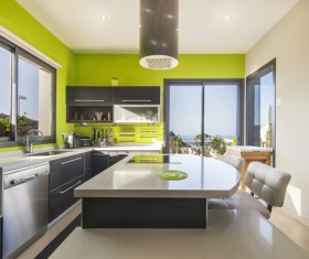 Different styles of decoration of the kitchen Stock Photo 23