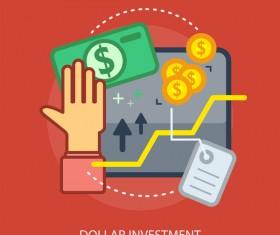 Dollar Investment Conceptual Design vector