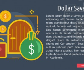 Dollar Save Conceptual Banner vector