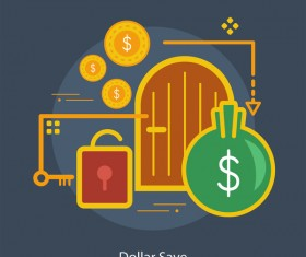 Dollar Save Conceptual Design vector