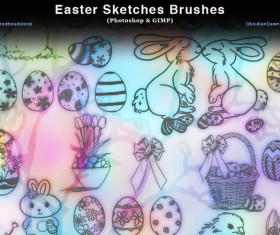 Easter Sketches photoshop brushes