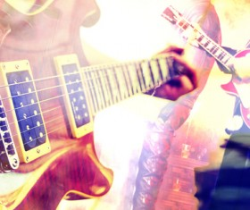 Electric guitar band Stock Photo
