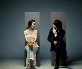 Elegant Korean wedding Stock Photo