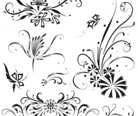 Elegant floral ornaments vector