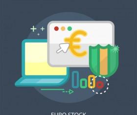 Euro Stock Conceptual Design vector