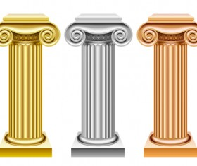 European style architecture columns vector material 02