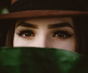 Exposing the eyes of the woman Stock Photo
