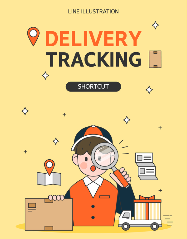 Express delivery background illustration vector 01