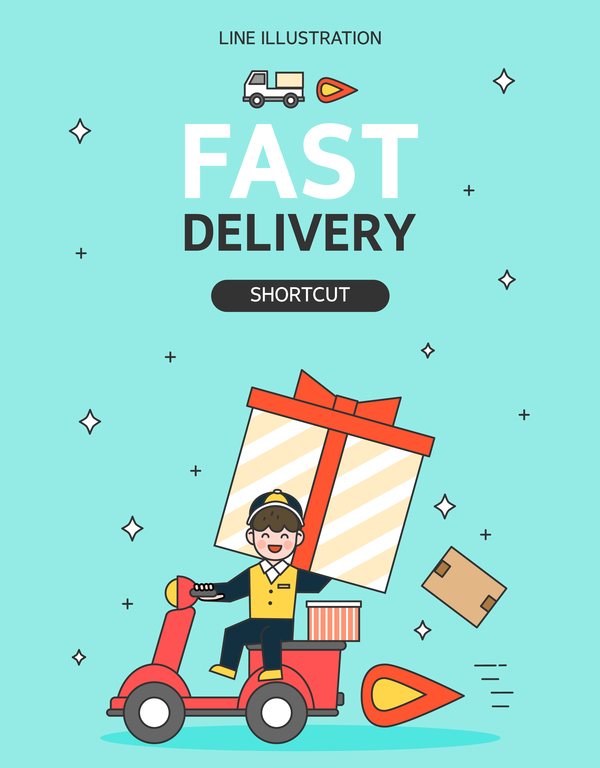 Express delivery background illustration vector 04