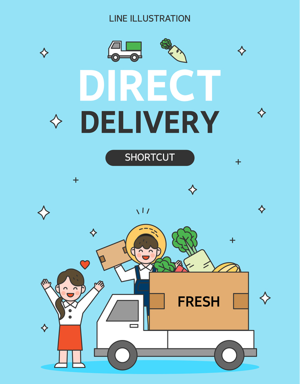Express delivery background illustration vector 05