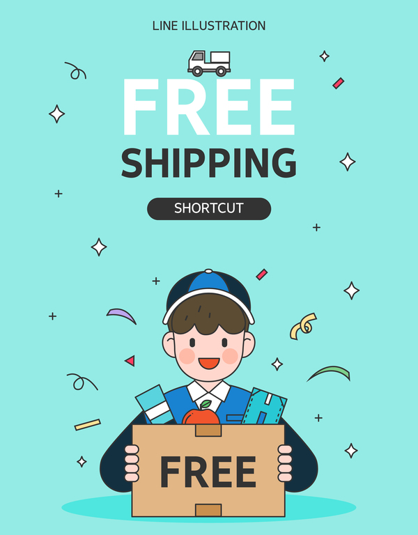 Express delivery background illustration vector 06