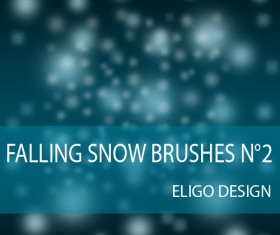Falling snowflake photoshop brushes