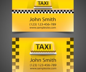 Fashion taxi business card vector