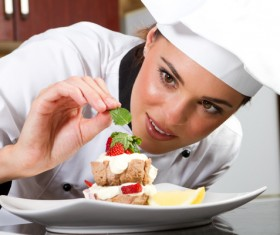 Female pastry division Stock Photo