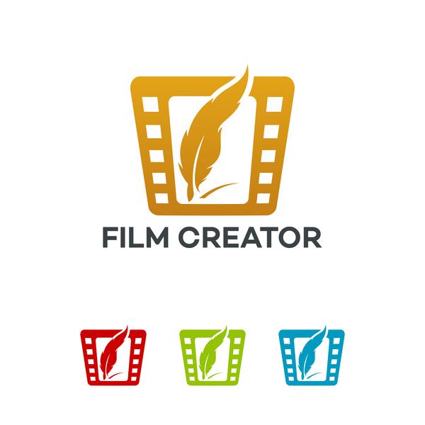 Film creator logo vector