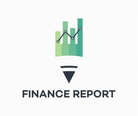 Finance report logo vector