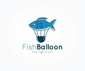 Fish balloon logo vector