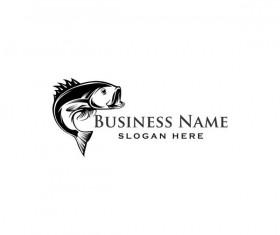 Fishing business logo vector material 01