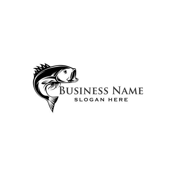 Fishing business logo vector material 01