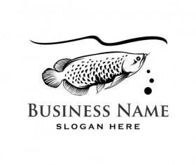 Fishing business logo vector material 02