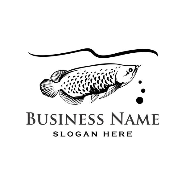 Fishing business logo vector material 02