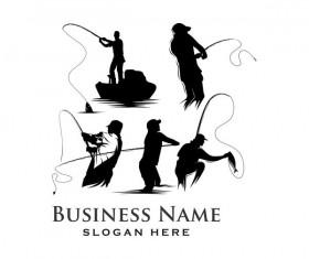 Fishing business logo vector material 03