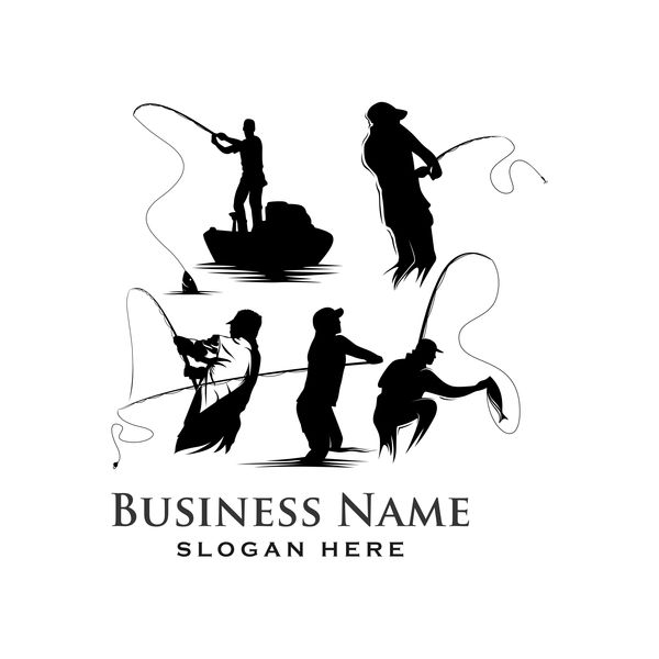Fishing business logo vector material 03