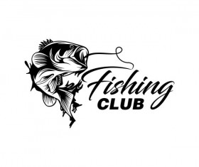 Fishing club logo design vector material 01