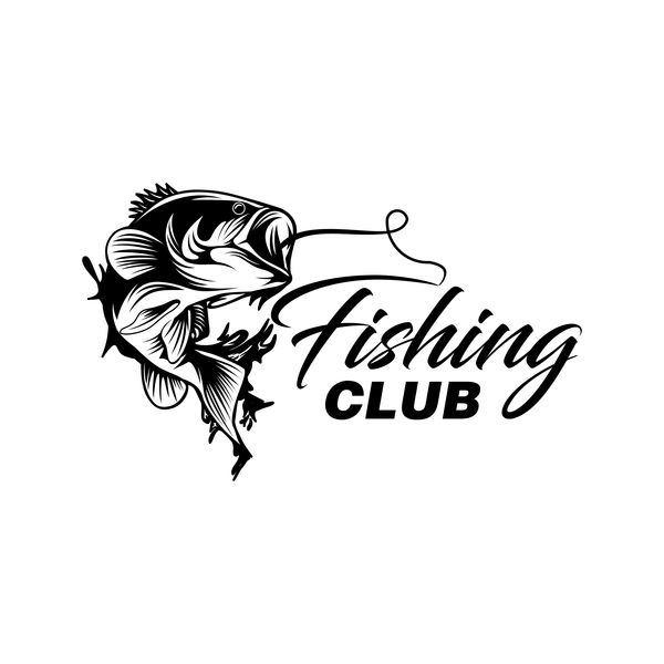 fishing club logo design vector material 01 free download