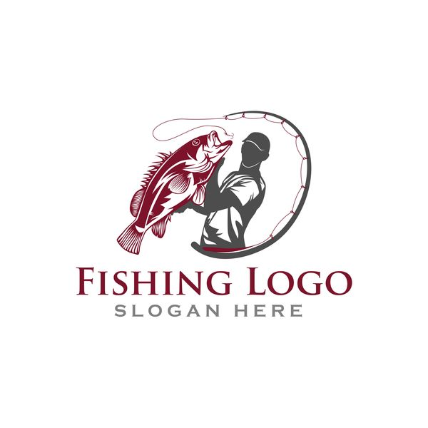Fishing logo design vector material 01