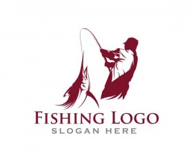 Fishing logo design vector material 03