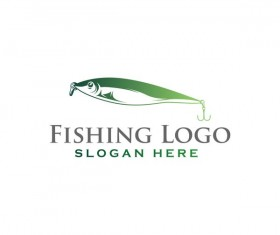 Fishing logo design vector material 04