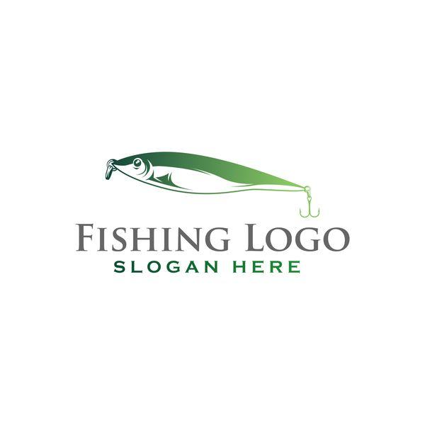 Fishing logo design vector material 04