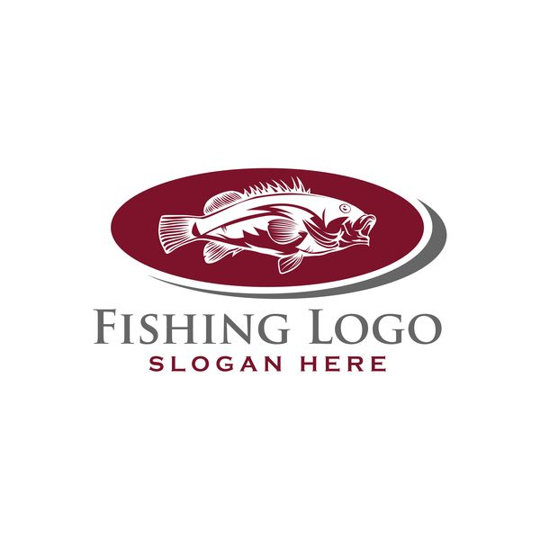 Fishing logo design vector material 05