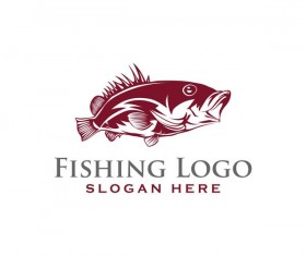Fishing logo design vector material 06