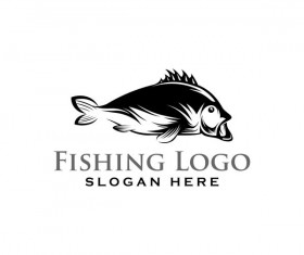Fishing logo design vector material 07