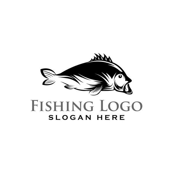 Fishing logo design vector material 07