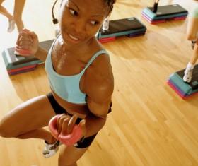 Fitness dance coach Stock Photo