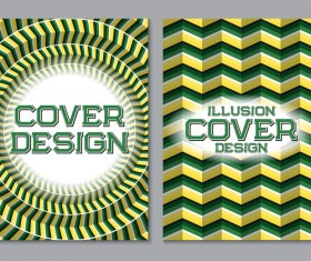 Flyer and brochure cover illusion design vector 06