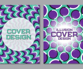 Flyer and brochure cover illusion design vector 10
