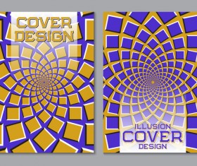 Flyer and brochure cover illusion design vector 11