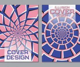 Flyer and brochure cover illusion design vector 12