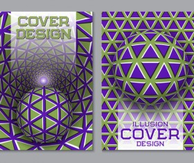 Flyer and brochure cover illusion design vector 15
