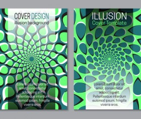 Flyer and brochure cover illusion design vector 20
