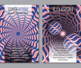 Flyer and brochure cover illusion design vector 23