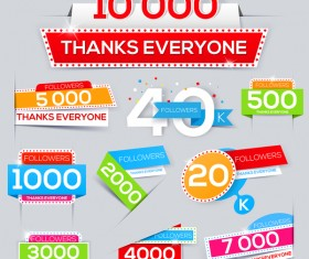 Followers thanks everyone vector design